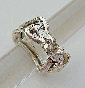 Carl Tasha Sterling Silver Ring - Female Nude