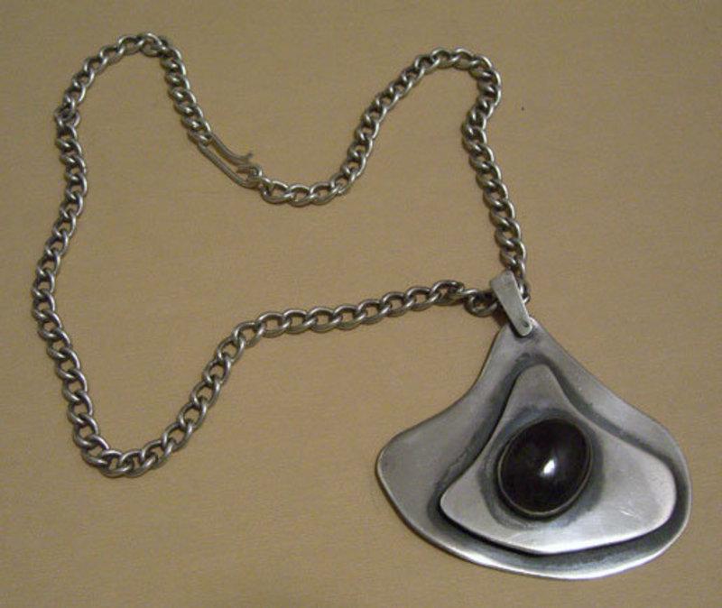 Hurst Kingsbury Modernist Sterling Necklace Pendant