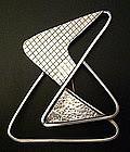 Frank Miraglia Modernist Sterling Geometric Brooch