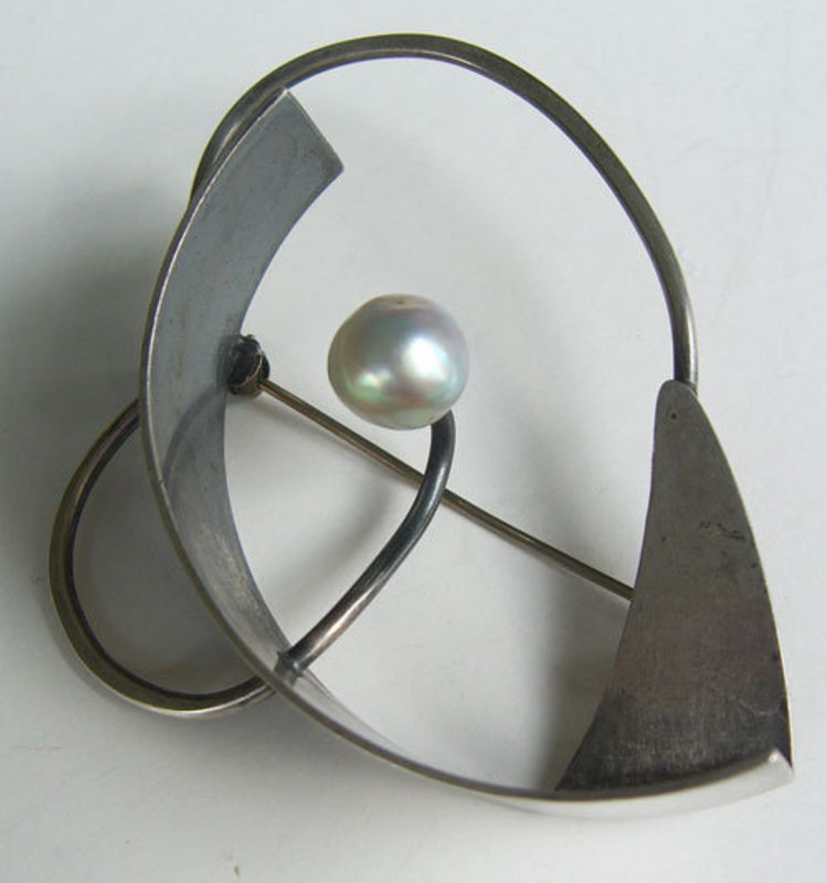 Bill Tendler Modernist Sterling Mid Century Pin Brooch