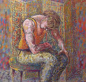 Louis Wolchonok Social Realist Watercolor/Gouache