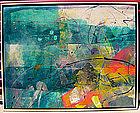 Mitch Lyons Abstract Clay Mono Print