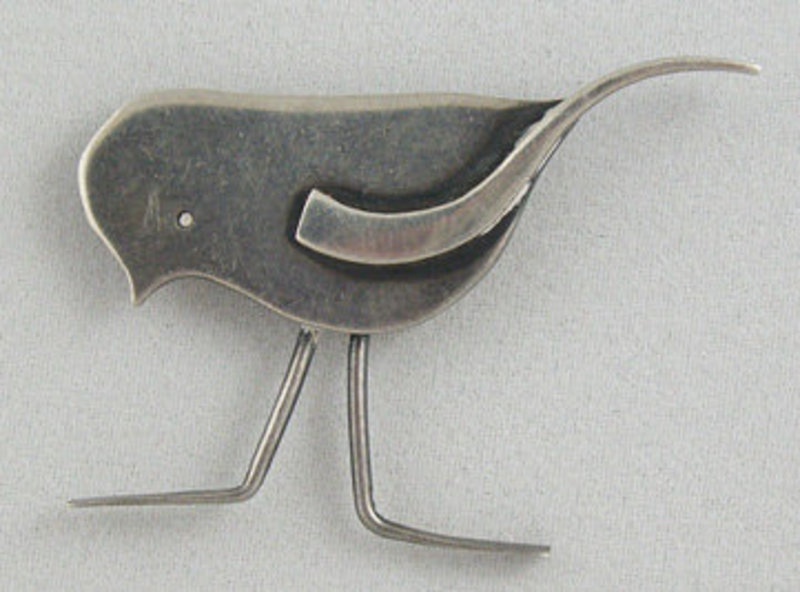Francis Holmes Boothby FHB Modernist Jewelry Bird Pin