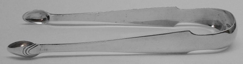 Lovely Philadelphia Coin Silver Sugar Tongs by Lewis & Smith c1805-11