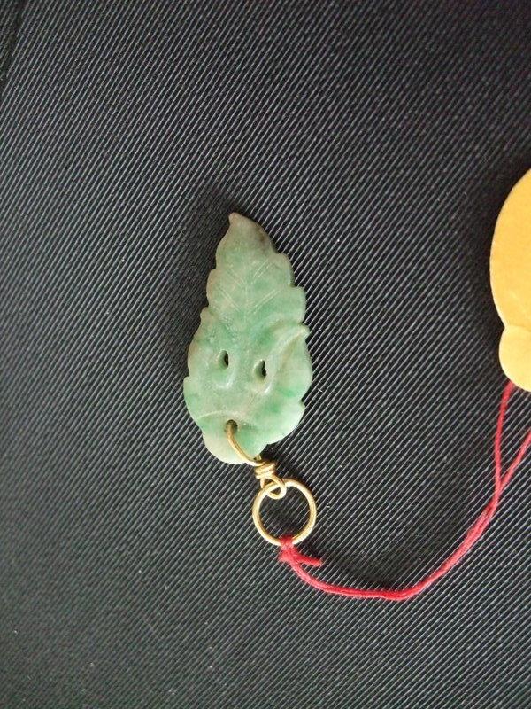 Jade leaf pendant