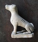 Chinese earthen ware pottery dog figurine