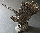 Old Brass Eagle Table Object D'art