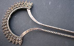 Indonesian Silver Gilt  Hairpin