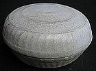 Chinese White Glaze Covered Powder Box