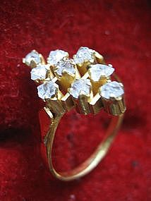 Straits Victorian Rough Diamond Intan Ring