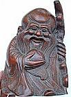 Bamboo Carving God of Longevity