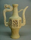20TH CENTURY LARGE CHINESE IVORY CARVING OF A VESSEL