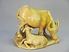 CHINESE STONE CARVING OF WATER BUFFALO