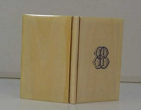 Ivory Notebook cover (Victorian era)