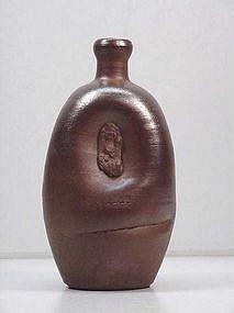 Japanese Pottery Bizen Tokkuri(Sake Bottle)