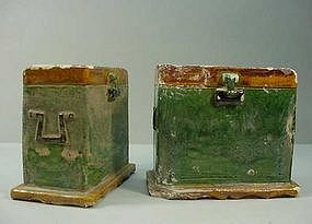 Pair of Chinese Ming Burial Chests