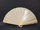 Early 20th Century Chinese Carved Ivory Fan