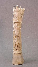 SOUTH EAST ASIAN BONE CARVING OF A DEITY