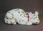 JAPANESE KUTANI STYLE SLEEPING CAT