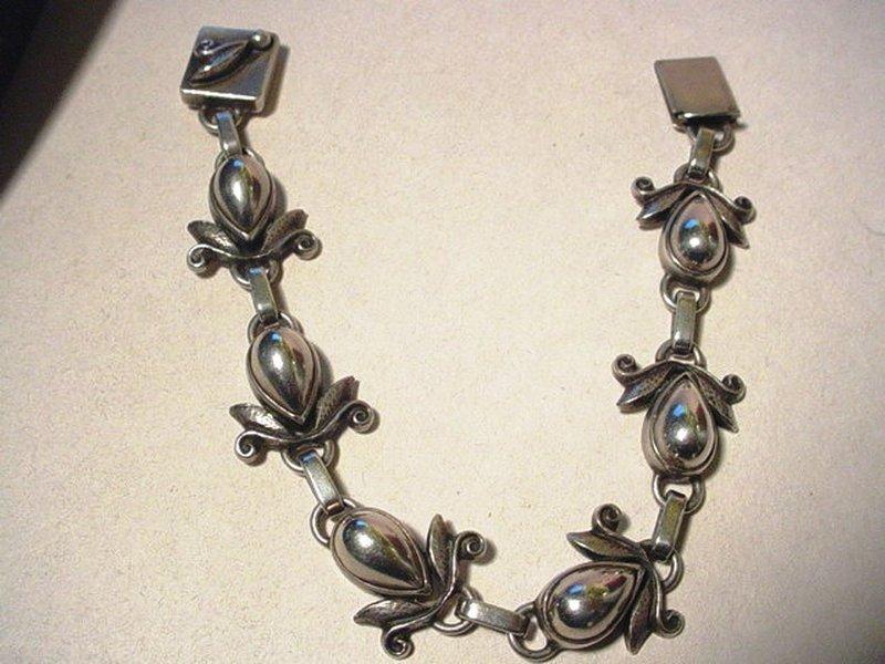 Early Laurence Foss Sterling Bracelet ~ 416A