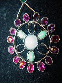 A Silver Gemstone Pendant