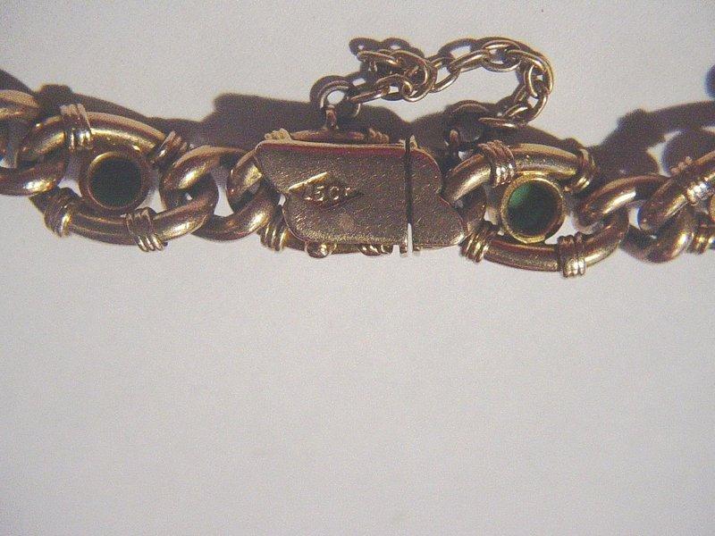 15k Victorian  Persian Turquoise + Pearl Bracelet