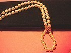 14k WG Double Knotted Cultured Pearl Necklace