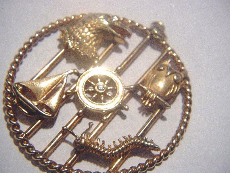 LARTER 14k YG Figural Diamond Pendant