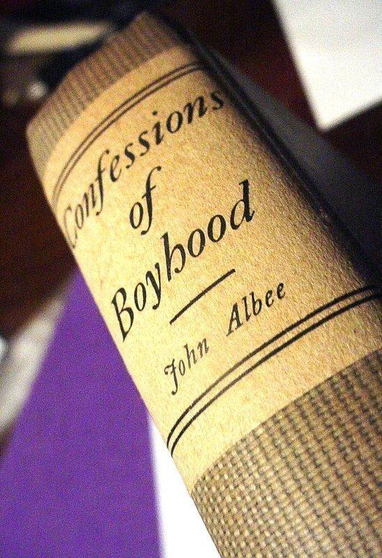 1st Ed Confessions of Boyhood ~ John Albee 1910