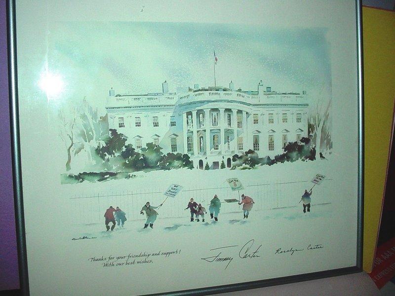1980 Presidential Christmas Print ~ Jimmy Carter