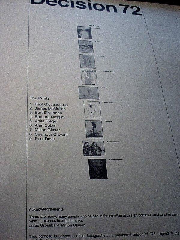 Decision'72 Political Art Portfolio~ (9)Signed Limited Edition Lithos