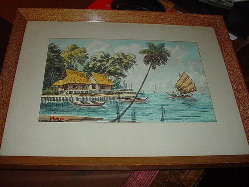 Southeast Asian Watercolor ~ Munir