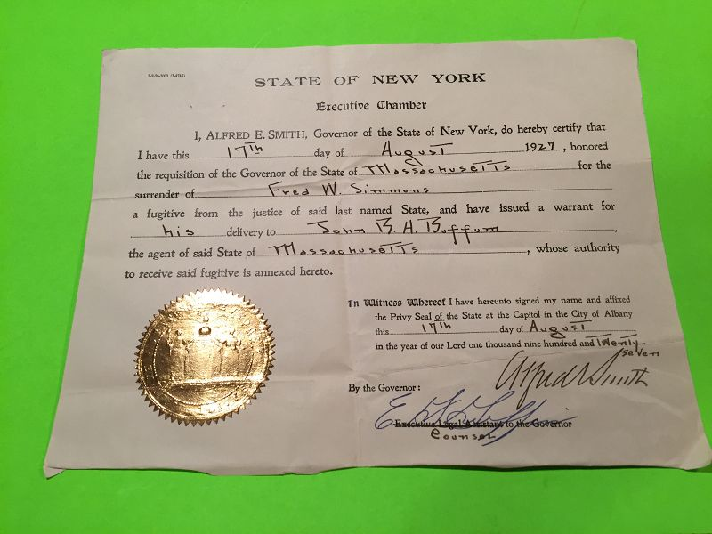 Fugitive-Transfer-Signed-by-Gov-Alfred-E-Smith-NY-8-17-27