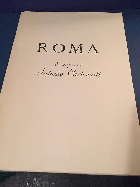 Ten (10) Antonio Carbonati Italian Roman Etchings w/ Folder