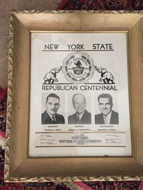 1954 New York Republican Centennial Convention Poster