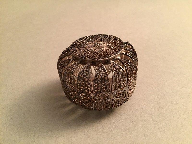 Ornate Silver Filigree Casket