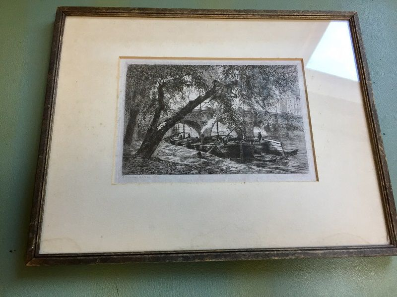 Alfred-Alexandre Delauney French Etching