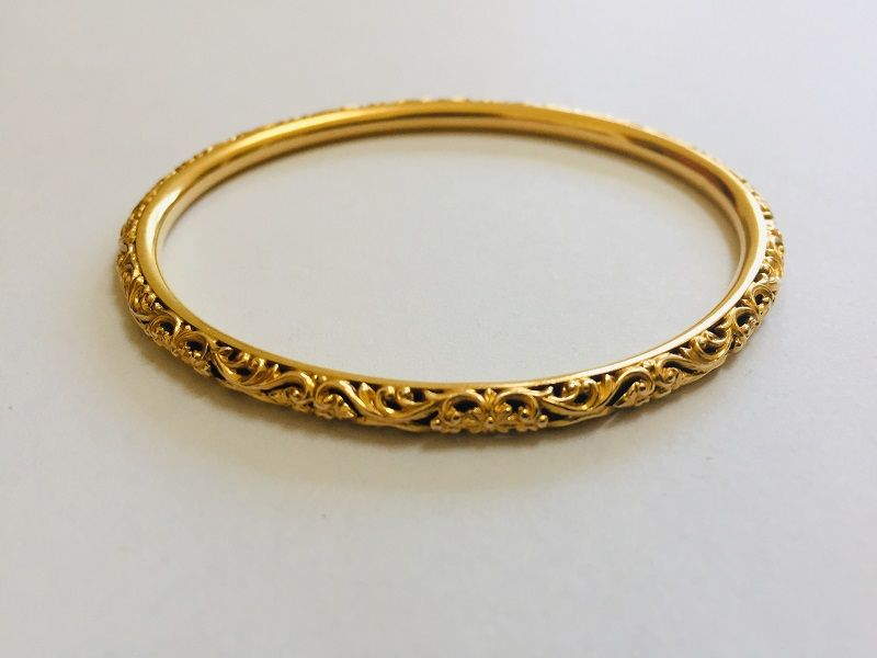 14k Art Nouveau Sloane & Co. Bangle