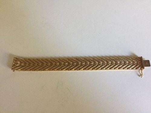 DeCesare 18kt GP Herringbone Bracelet 57 Gr