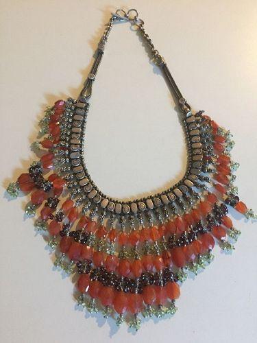 Rajasthan Sterling Tribal Gemstone Necklace