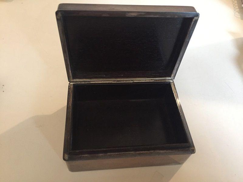 Japanese  Sterling Stamp Box