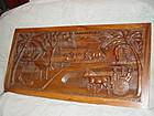 Bas Relief Mahogany Folk Art Panel ~ Philippines