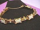 19thC Chalcedony + Opal Expansion Bracelet