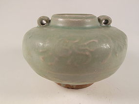 Green Celadon Jarlet with Two Ears