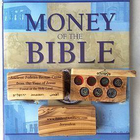 A COLLECTION OF SEVEN BRONZE BIBLICAL COINS