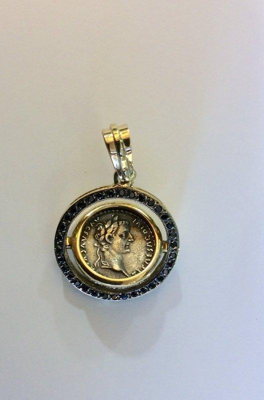 A ROMAN SILVER DENARIUS �TRIBUTE PENNY� OF TIBERIUS