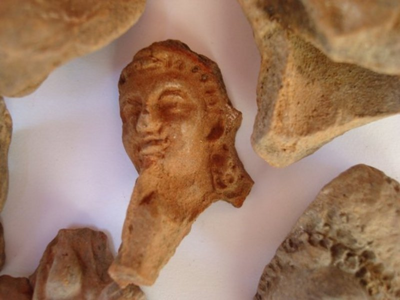 EIGHT HELLENISTIC TERRACOTTA ISIS-APHRODITE FRAGMENTS