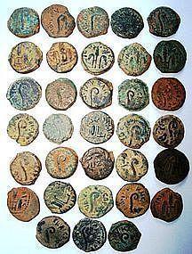 33 BRONZE COINS OF PONTIUS PILATE