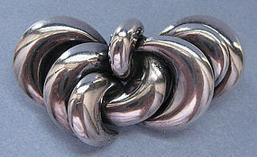 Silver Pin, Abstract Design, Argentina