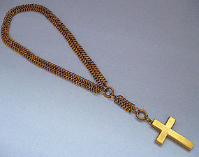 Victorian Multiple-Link Chain With Cross